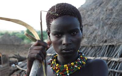Norbert Klora, Woman of the Tribe of Hamer, South Ethiopia, 2016
