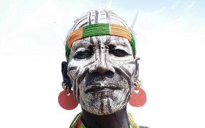 Norbert Klora, Man of the Tribe of Karo, South Ethiopia, 2016