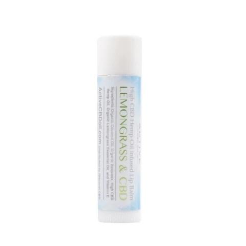 Active CBD Oil Lip Balm Lemongrass