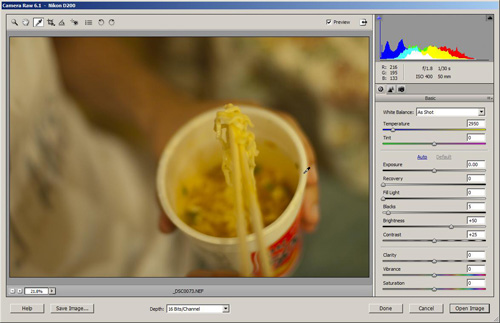 Click the white balance dropper tool on an area that should be neutral