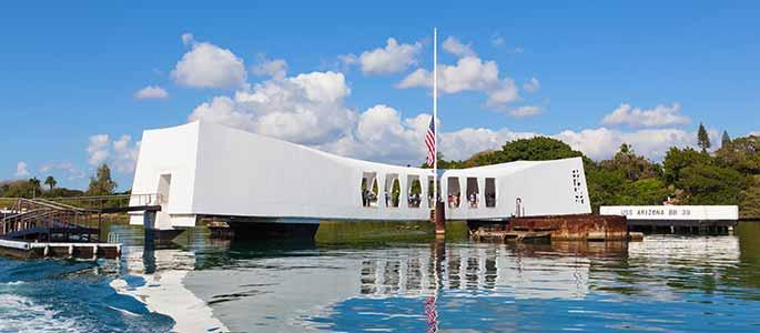 Board the USS Arizona Memorial at Pearl Harbor
