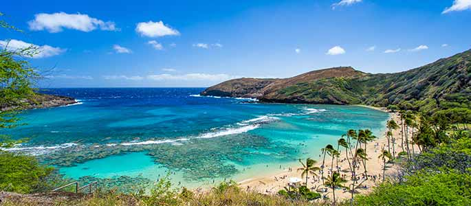 Hanauma Bay on Oahu's South Shore