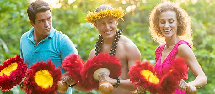 Immerse yourself in the Hawaiian culture at the Big Kahuna Luau