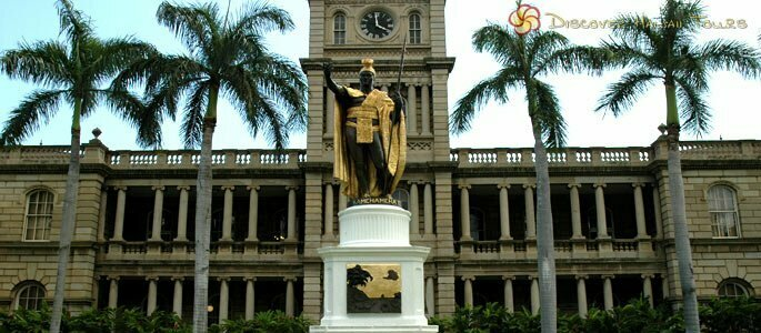 King Kamehameha The Great Statue And Ali'iolani Hale