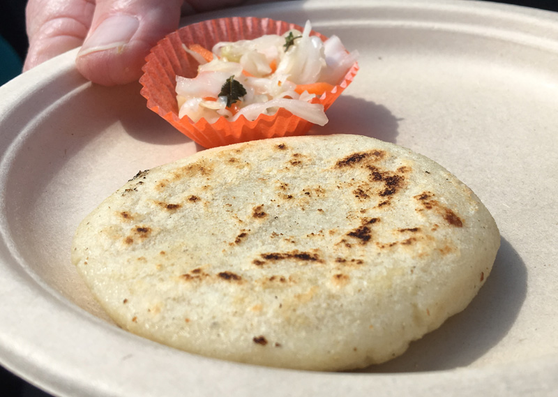 Pupusas revueltas with Central American slaw ¡Latin Food Fest!