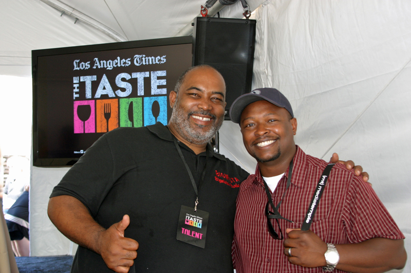 Neil Strawder from Big Mista's with Michael Jenkins from South Bay Foodies - The Taste