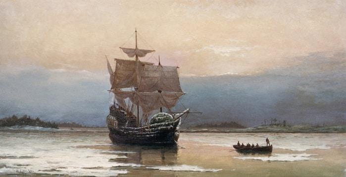 92570274_William_Halsall_1882_Mayflower_in_Plymouth_Harbor