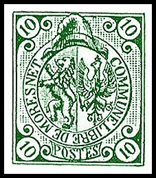 Neutral Moresnet postage stamps