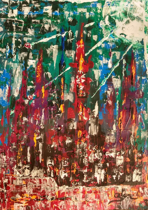 Buy a piece of modern art by Oliver Van Dam of Brussels