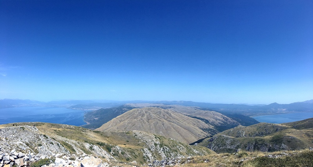 Panorama View Of Ohrid And Prespa Lakes From Top Of Galicica