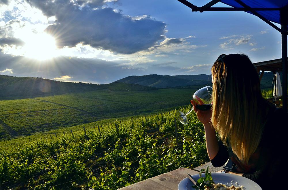 Drinking Macedonian Wine In Sopot