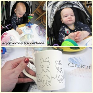 Painting Mugs, and Ikea VS. Mommy and Baby