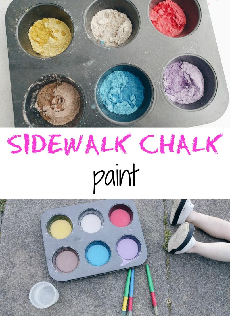 DIY sidewalk chalk paint