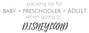 Packing Lists for Disneyland