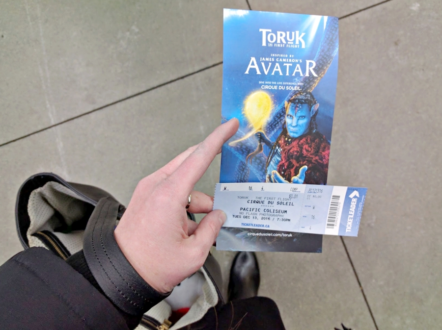 Cirque Du Soleil TORUK ticket and pamphlet