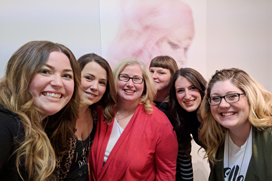 On The Fringe Hair Design in Vancouver: Group of Bloggers