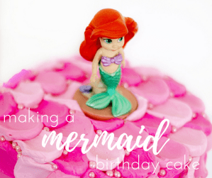 Making A Birthday Cake for A Mermaid Party