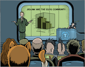 Strip from 'An Adventure in Statistics' by Andy Field (Illustrated by James Iles)