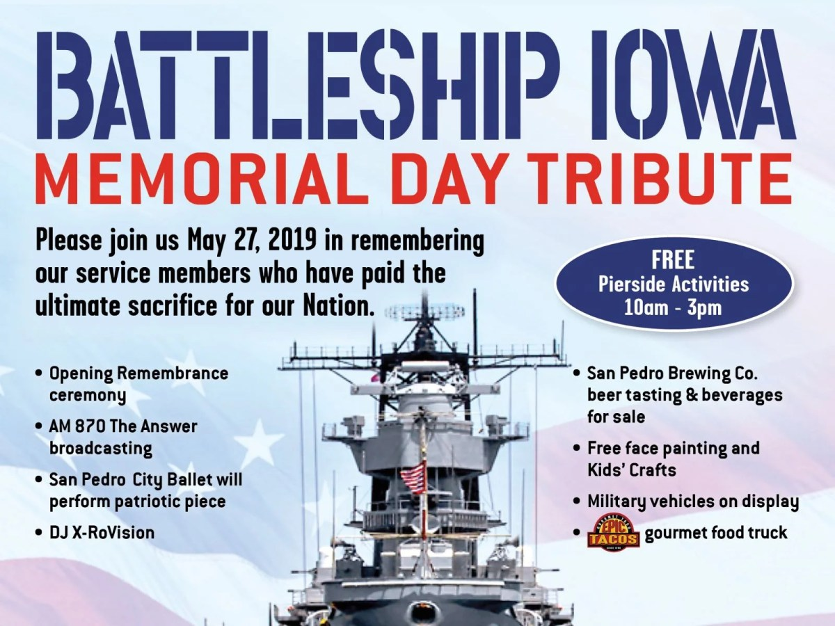 Image result for uss iowa museum memorial day