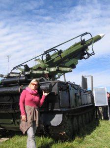 Tank Girl with a rocket tank at NATO Days 2012 Ostrava Czech Republic