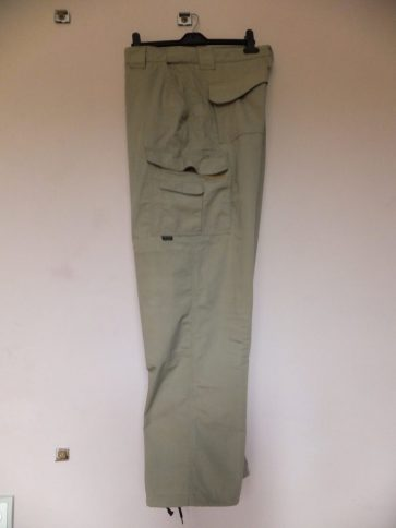 Tru-Spec 24-7 trousers. Side view showing leg, hip, mag-lite and back pockets.