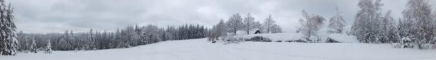 Cross-Country Skiing Trail, Beskydy Mountains, Czech/Slovak border.