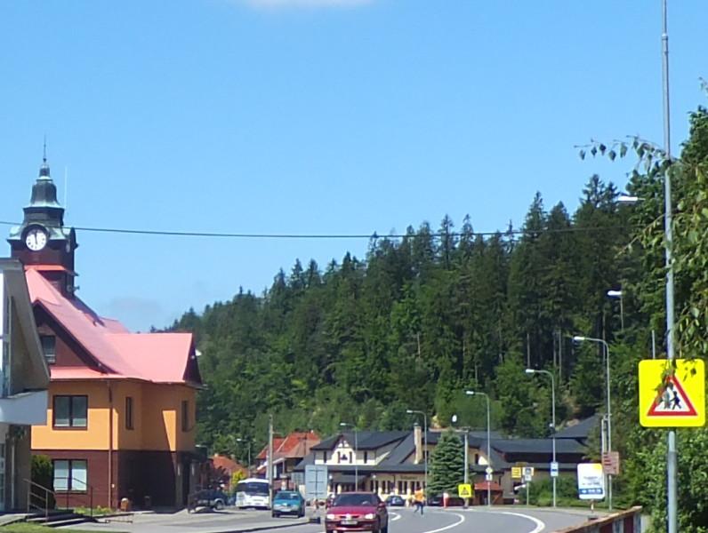 The nearby village of Protřední Bečva, where you can find shops and restaurants. Czech camping