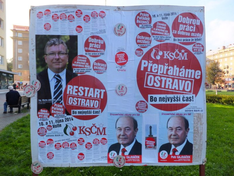 Czech elections 2014. The Communist Party Of Bohemia & Moravia