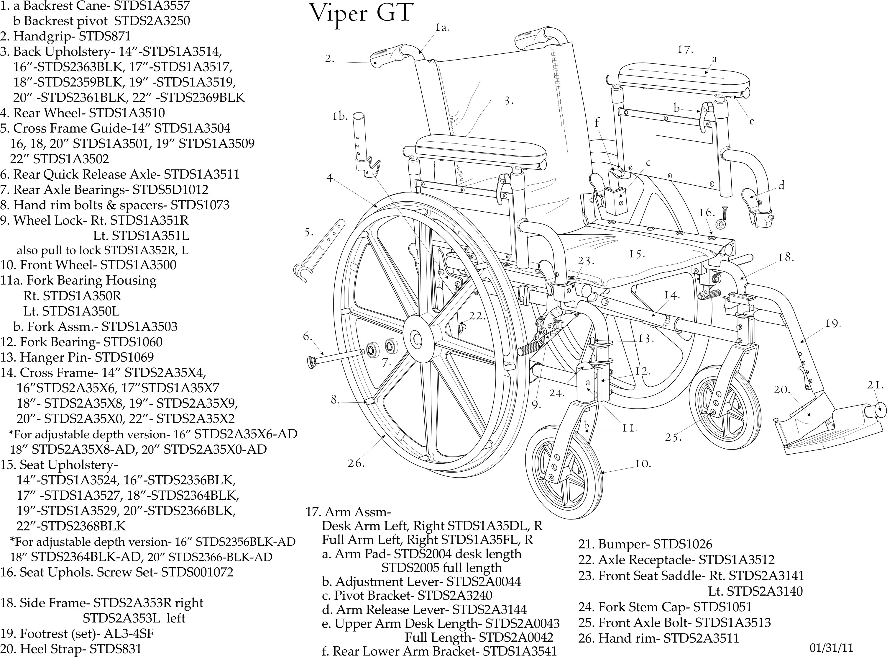 Drive Medical Viper Plus Gt Wheelchair Deluxe High