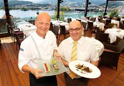 Fritz Erni with Chef Johan Breedijk