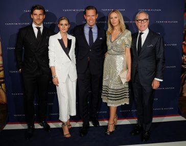 Johannes Huebl, Olivia Palermo, CEO Tommy Hilfiger and PVH Daniel Grieder, Dee Hilfiger