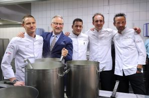 Dany Stauffacher and Chefs Pierre Crépaud, Domenico Ruberto, Patrick Mahler, Philipp Bourrel.
