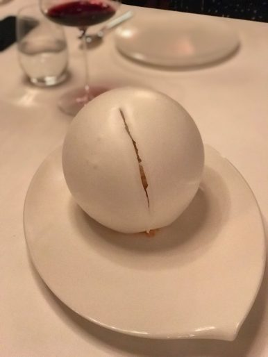 Lucio Fontana tempo dell'attesa inspired dessert