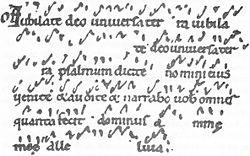 Pre-staff notation
