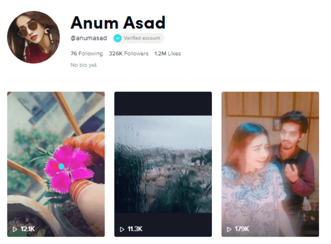 Anum Asad on Tiktok