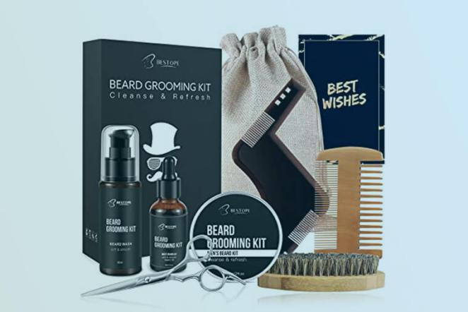 Beard and Moustache Care and Grooming Kit