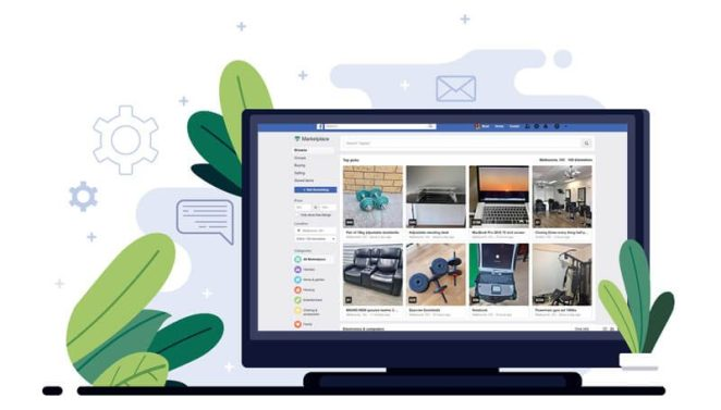 Facebook Marketplace Place - for people to buy and sell items