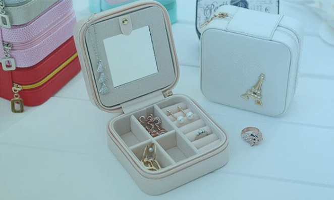 Travel Jewelry Box - Small Makeup Organizer