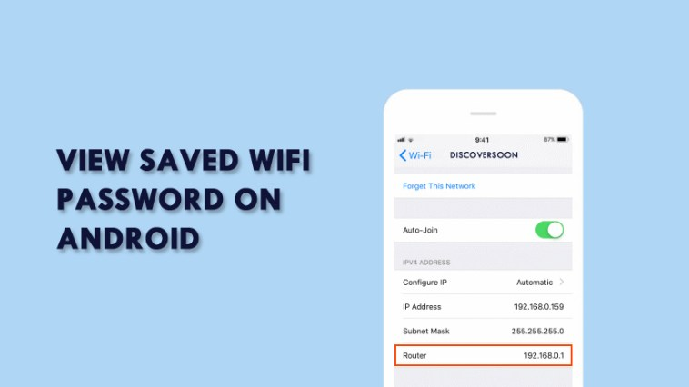 Find Saved WiFi Password on Android