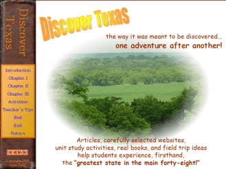 Discover Texas is an age-integrated, hands-on learning adventure.