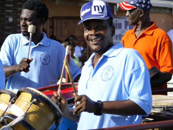 The Charlotteville Rydm Section at Tobago Carnival. Photographer: Owen Washington