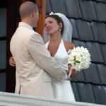 A couple celebrates after wedding at Stonehaven Villas. Photographer: Courtesy Stonehaven Villas