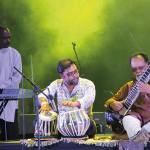 Mungal Patasar and Pantar, one of Trinidad's exciting fusion groups. Photo: Marissa Rodriguez