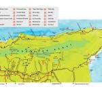 North and Northeast Trinidad Map. Copyright MEP Publishers 2013