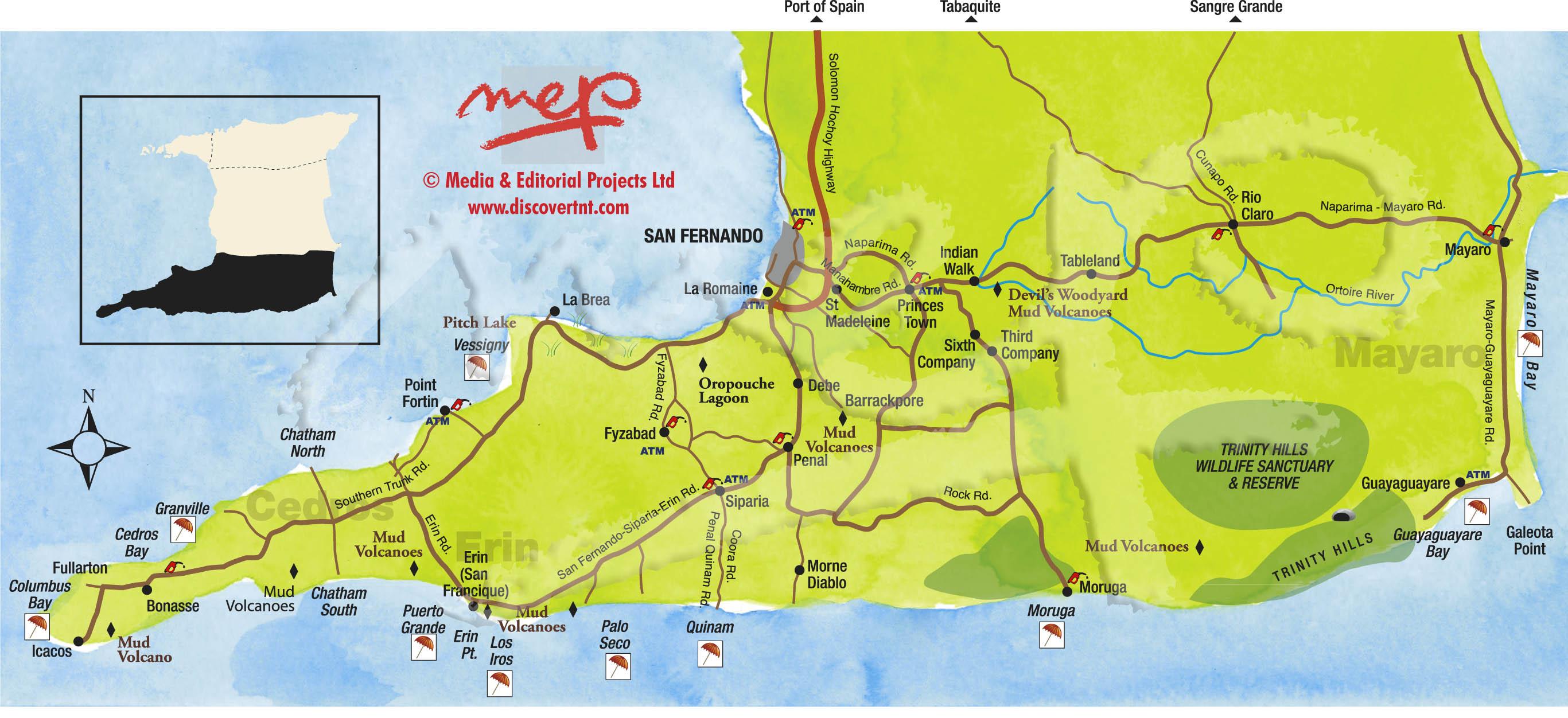 Trinidad Maps Discover Trinidad Tobago - Trinidad map