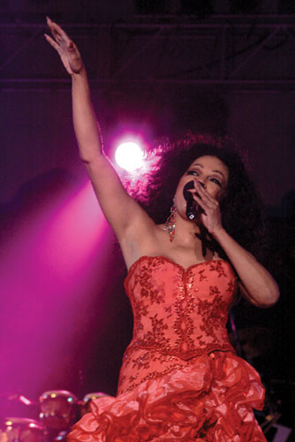 The inimitable Diana Ross at Tobago Jazz. Photographer: Edison Boodoosingh