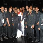 Heather backstage with the crew at her HOME concert at NAPA in Trinidad. Photographer: Courtesy Heather Headley