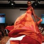 A design by Shurnel is modelled T&T Fashion Week. Photographer: Edison Boodoosingh
