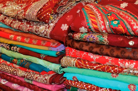 Colourful Fabrics. Photograph by Anu Lakhan