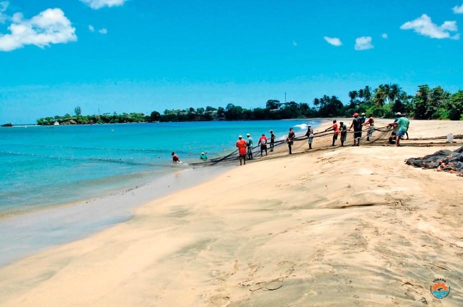 "Turtle Beach ""Seine"" fishing Tobago"